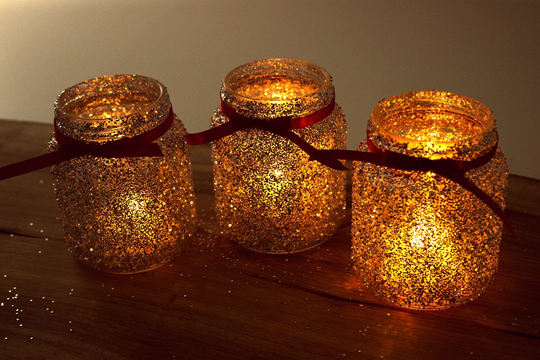 How To Make Christmas Jam Jar Decorations Party Delights