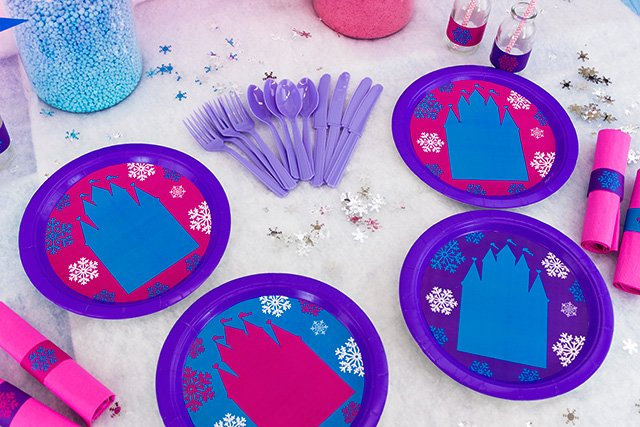Frozen Party on a Budget - Printable Plate Inserts