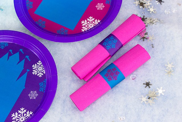 Frozen Party on a Budget - Printable Napkin Rings