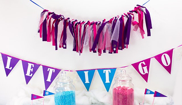Frozen Party on a Budget - Bunting
