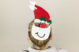 Santa Claus Hairstyle Tutorial