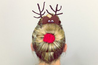 Christmas Reindeer Hairstyle Tutorial