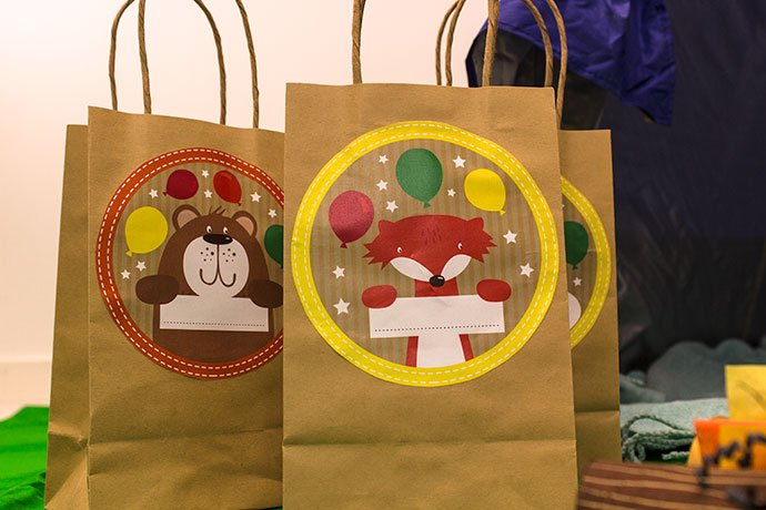 Party Bags for an Indoor Camping Party
