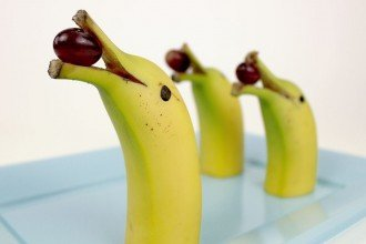 Healthy Party Food Ideas - Banana Dolphins