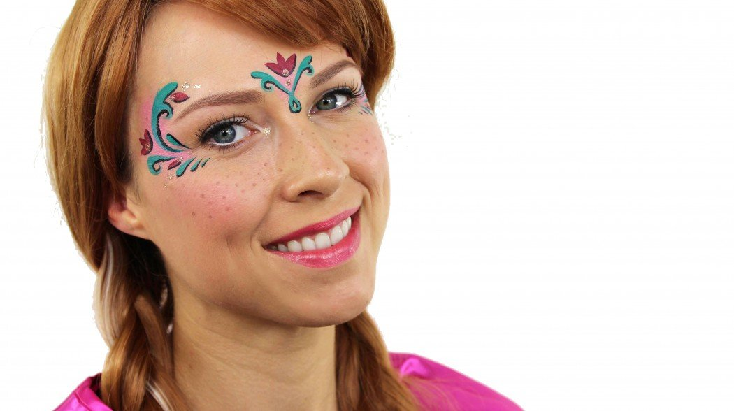 Anna Frozen Face Paint Tutorial
