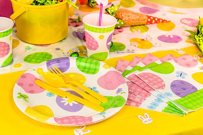 Easter party tableware ideas