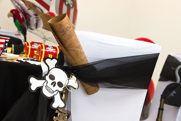 pirate party chair decorations