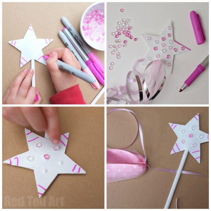 Princess Party Crafts - Upcycled Fairy Wand Idea