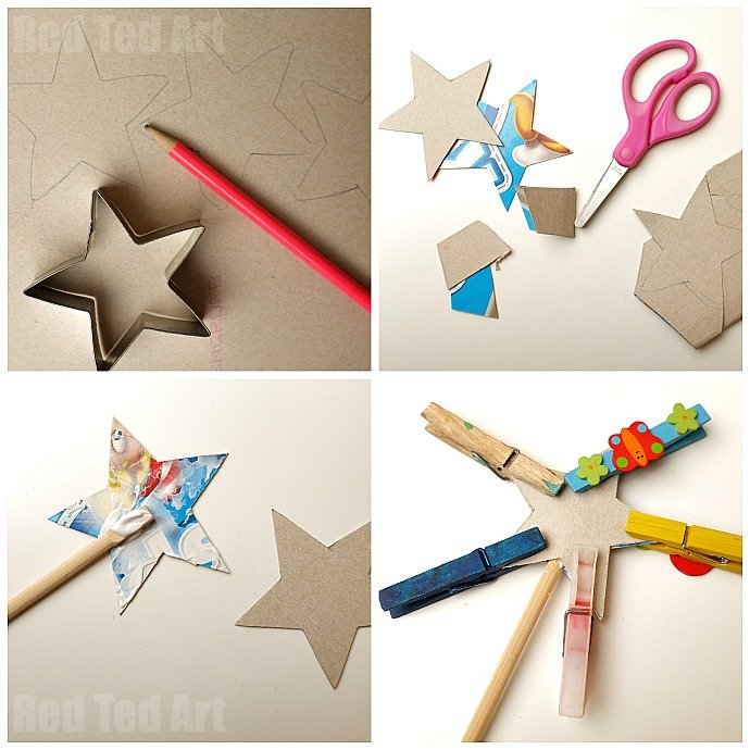 Prince Party Crafts - Upcycled Fairy Wands