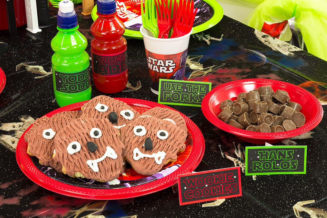 photo about Free Printable Food Labels for Party referred to as Absolutely free Star Wars Printables - Food stuff Labels Occasion Delights Website