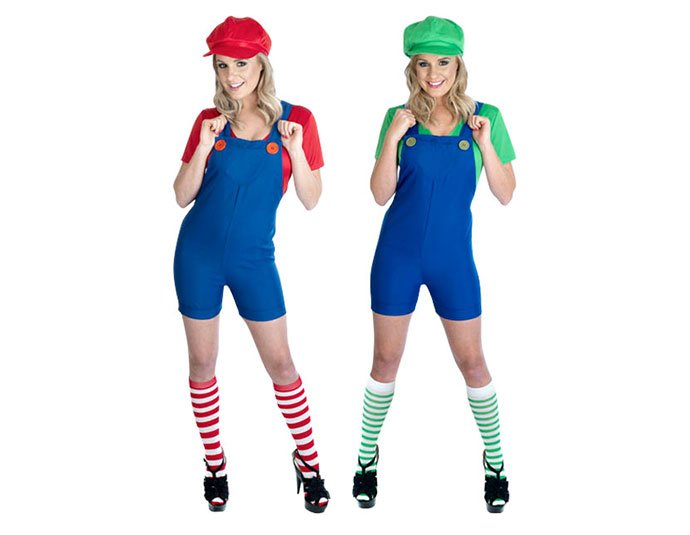 Mario and Luigi Group Fancy Dress Costume for Festivals. Back to top  sc 1 st  Party Delights Blog & Mario and Luigi Group Fancy Dress Costume for Festivals | Party ...