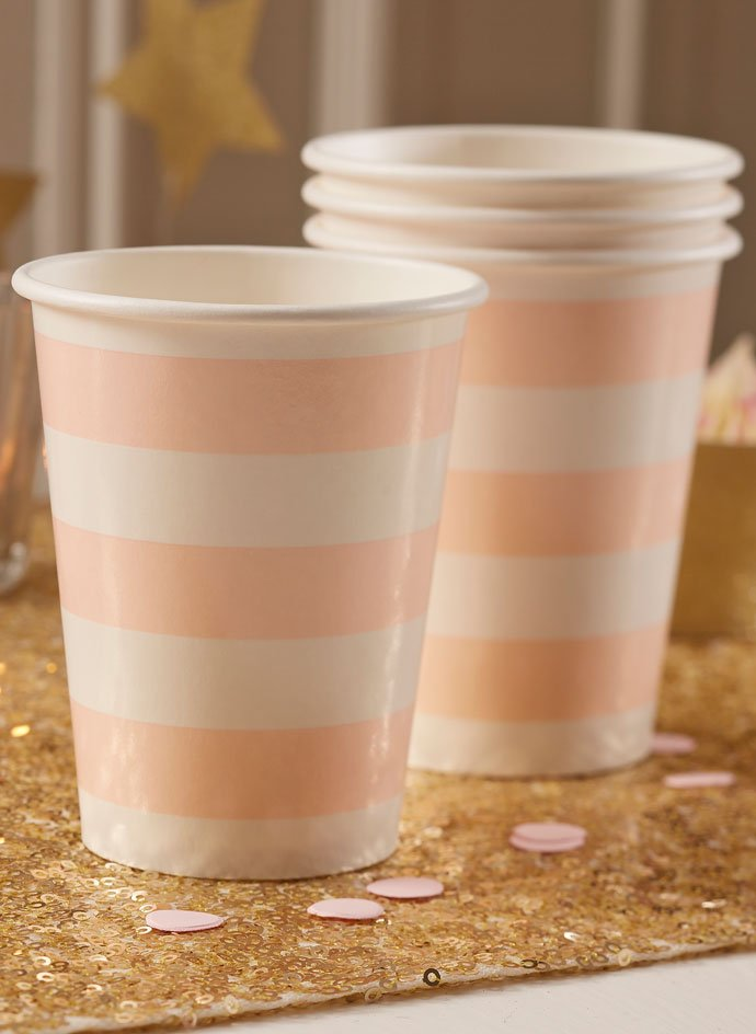 Pastel Pink Paper Cups