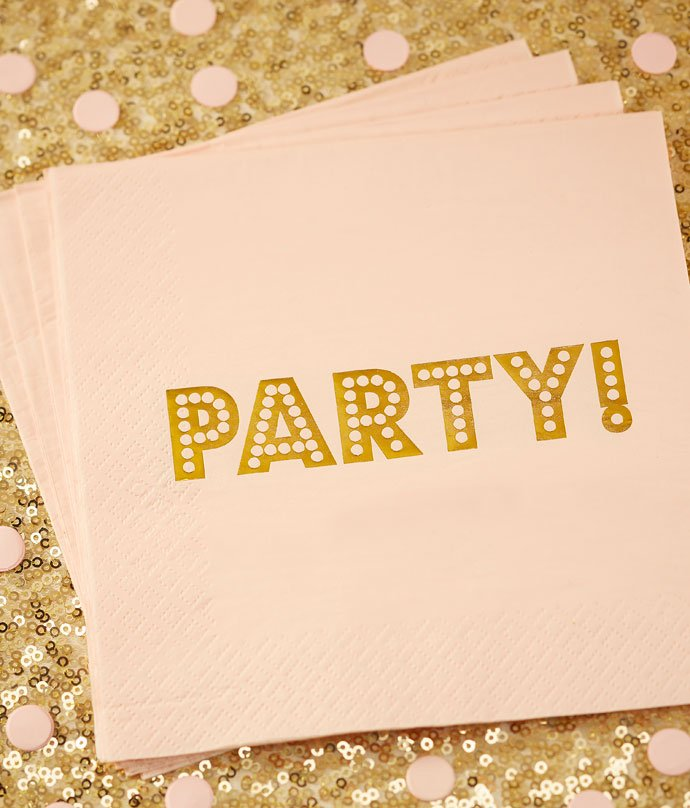 Pink and Gold Party Napkins