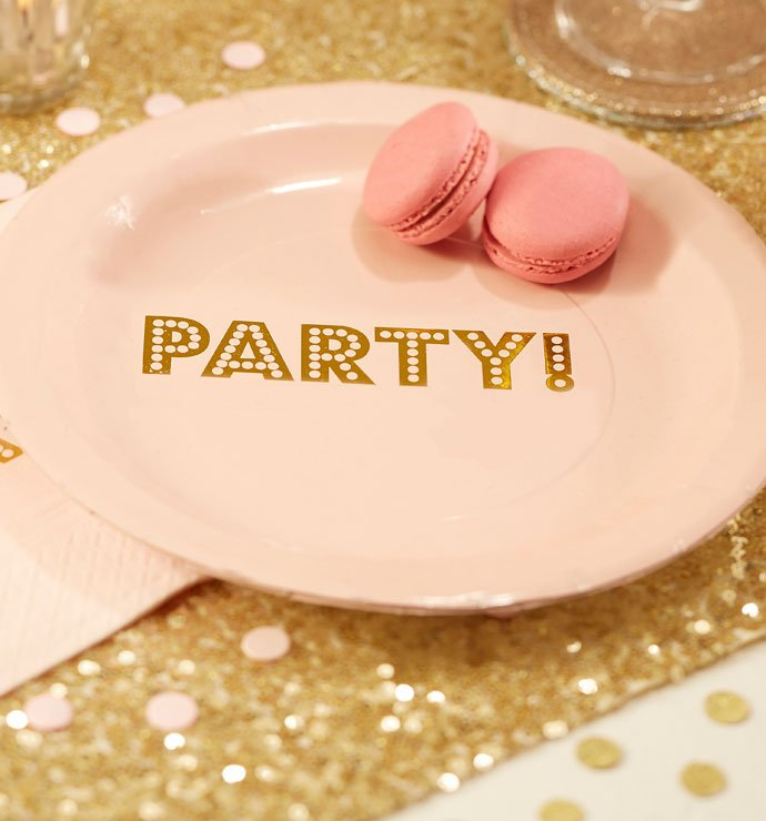 Pink and Gold Party Plates