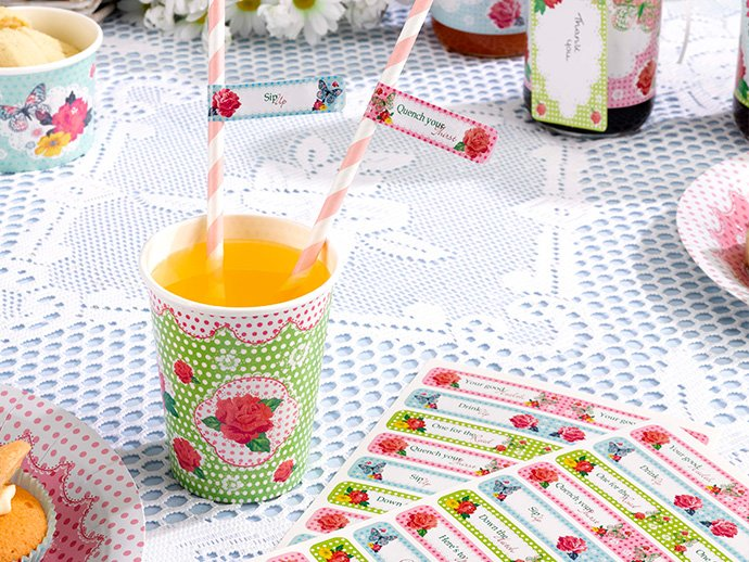 Summer picnic straw labels