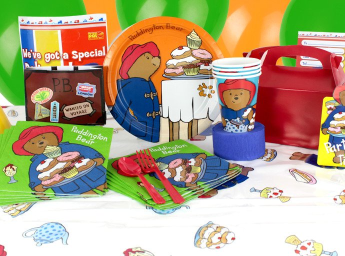 1st birthday party supplies - Paddington Bear