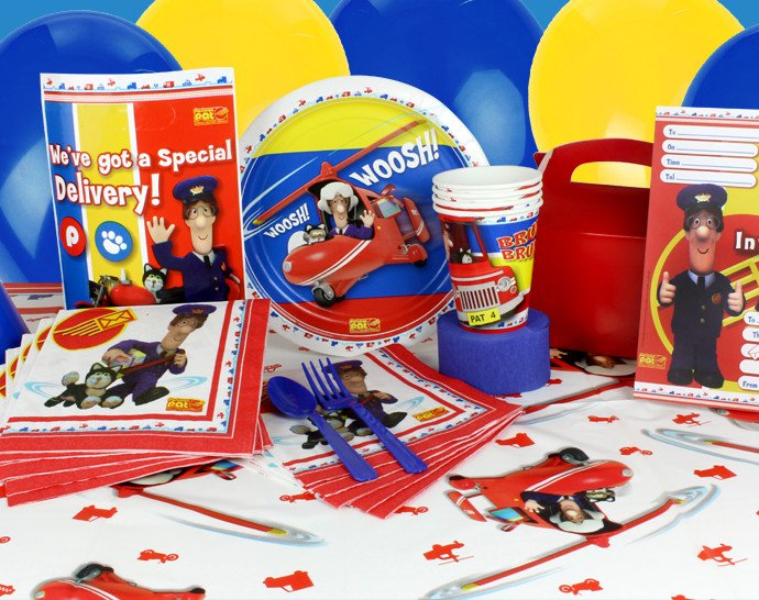 Toddler party ideas - Postman Pat party supplies