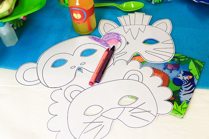 Free Printable Jungle Animal Masks Party Delights Blog