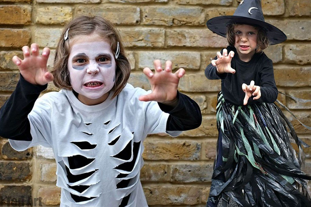 Last Minute Halloween Costumes-Made From Household Items