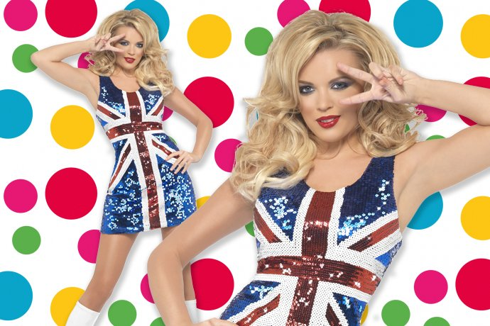 Geri Ginger Spice Girls Costume