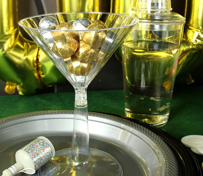 James Bond Party Martini Glasses