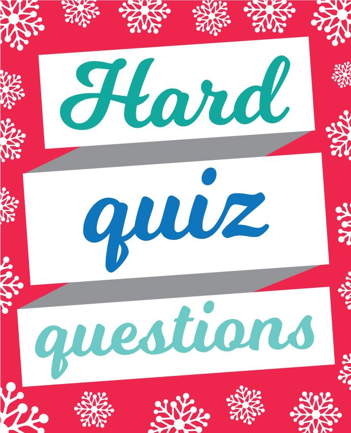 Hard Christmas quiz questions