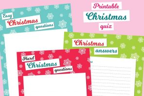 Our free printable Christmas quiz sheets