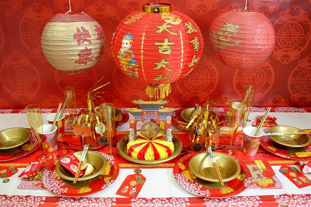 Chinese new year party ideas year of the dog party for Asian party decoration
