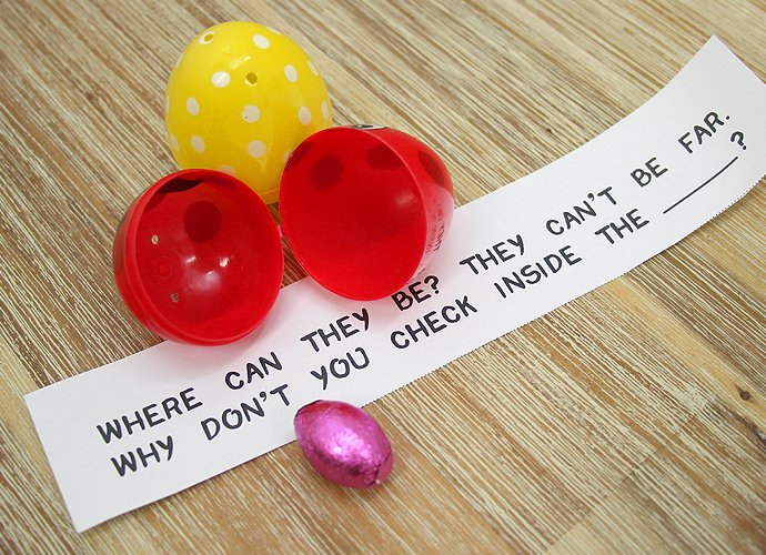 Free Printable Indoor Easter Egg Hunt Clues