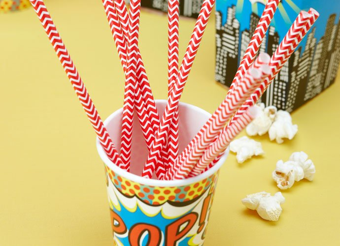 Pop Art Paper Straws