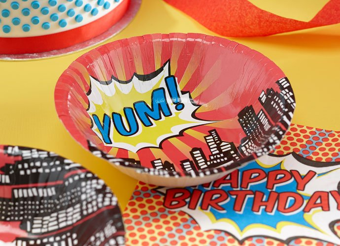 Pop Art Superhero Bowls