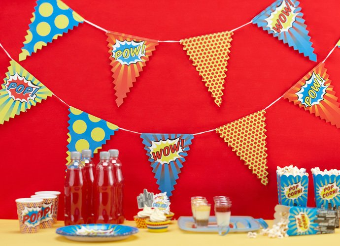 Pop Art Superhero Bunting