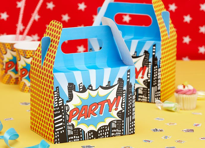 Pop Art Superhero Party Boxes
