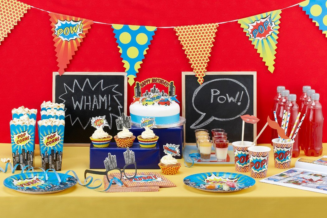 Pop Art Superhero Party Ideas