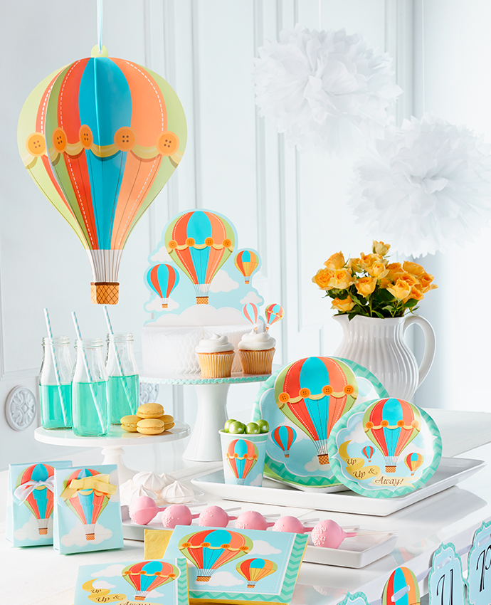 Hot Air Balloon Baby Shower Supplies Party Delights Blog
