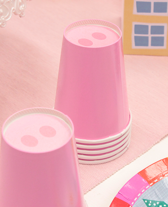 Pink Pig Cups