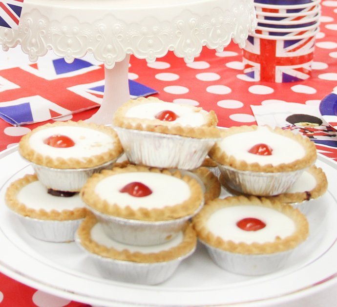 Bakewell Tarts for a Union Jack Party