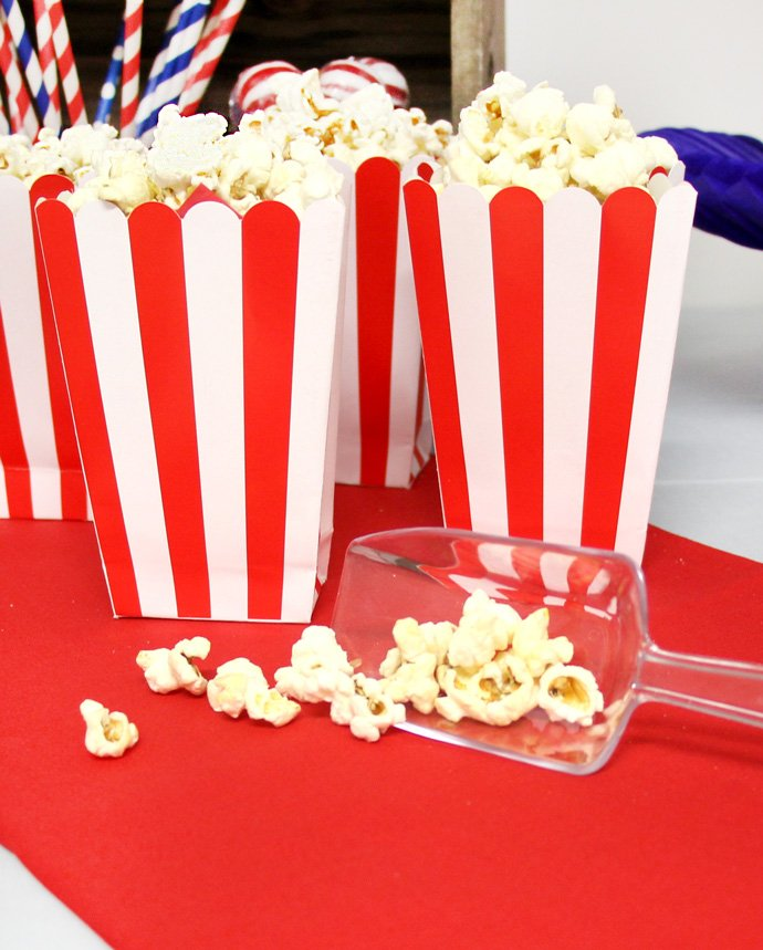 Red & White Popcorn Boxes