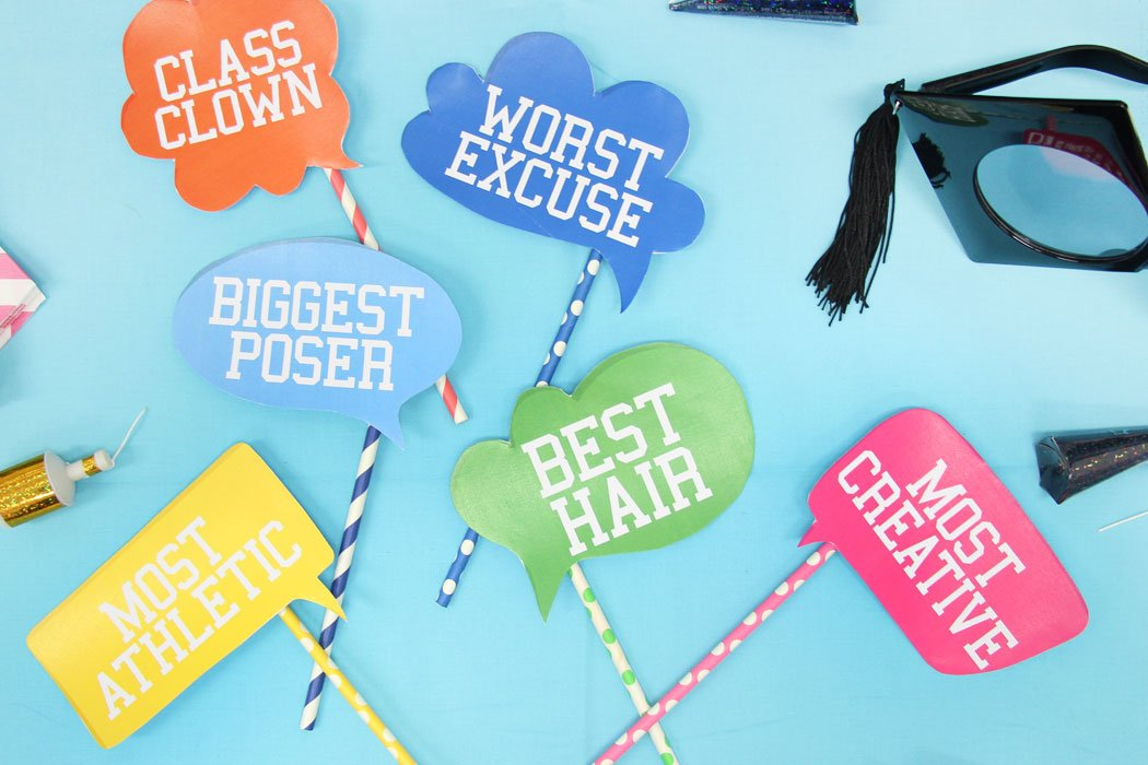 picture relating to Free Printable Graduation Photo Booth Props titled Cost-free Printable Commencement Image Props Get together Delights Web site