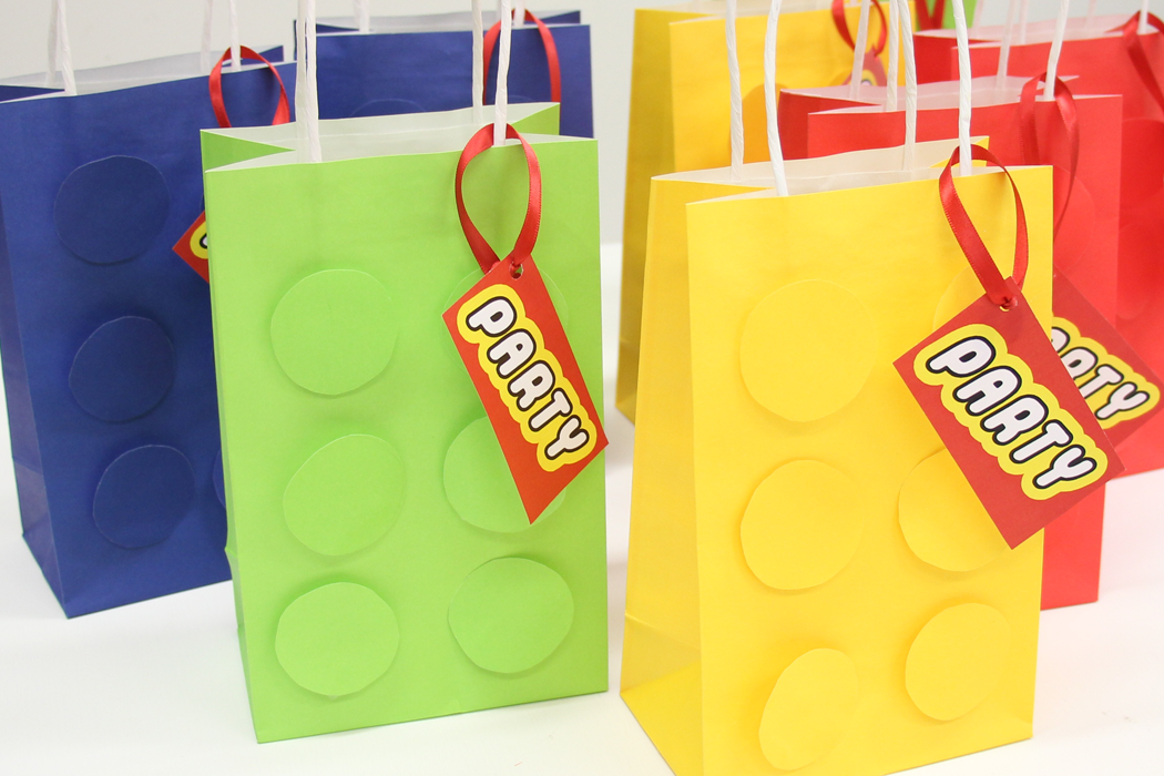 How To Make LEGO Party Bags