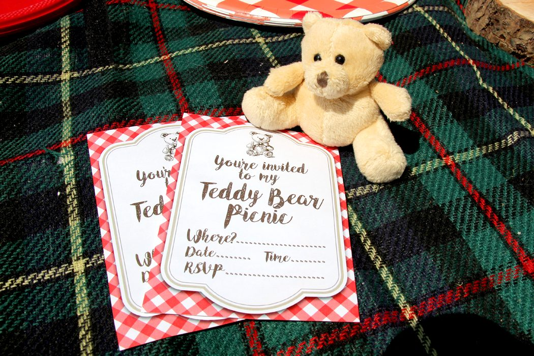 free printable teddy bear picnic invites party delights blog