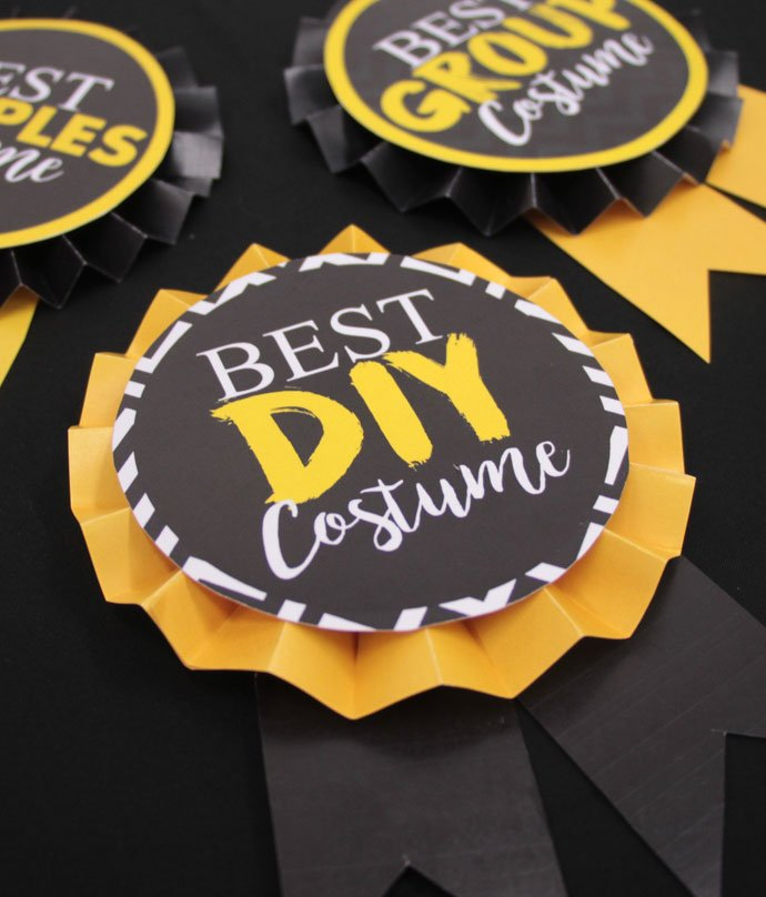 Halloween Costume Competition Badges