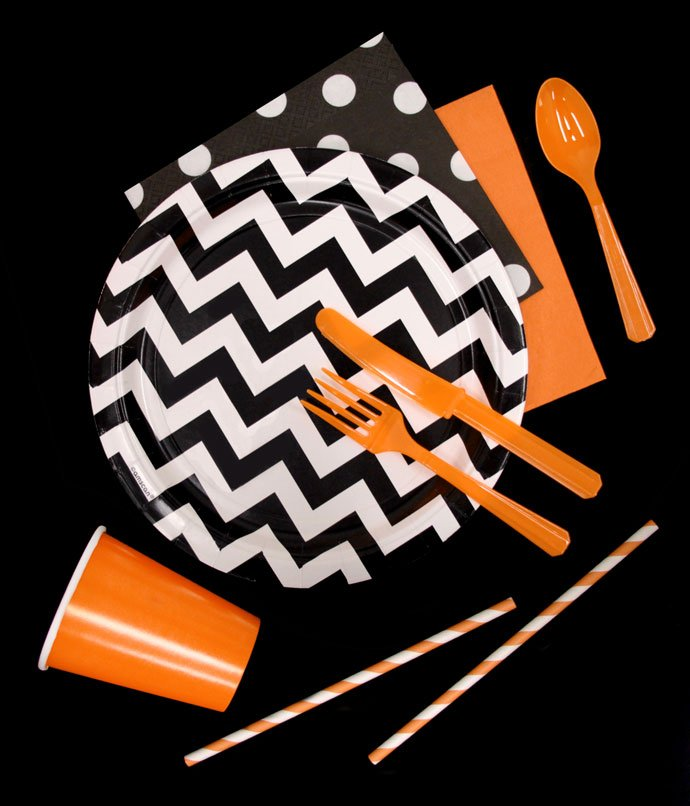 Orange and Black Halloween Party Supplies