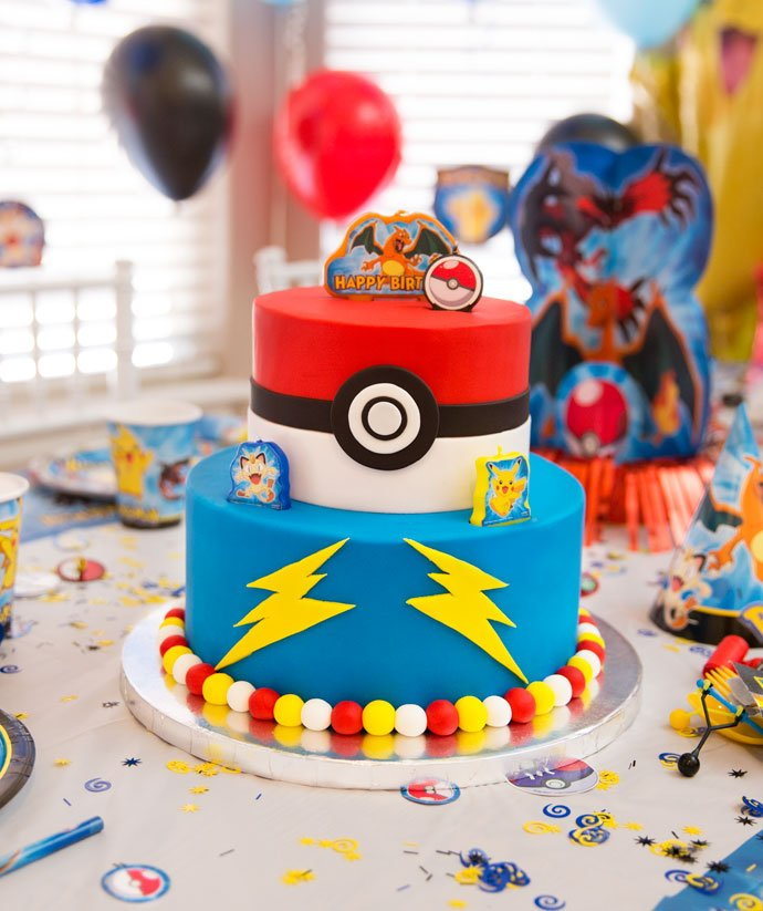 Sensational Pokemon Birthday Cake Party Delights Blog Personalised Birthday Cards Bromeletsinfo