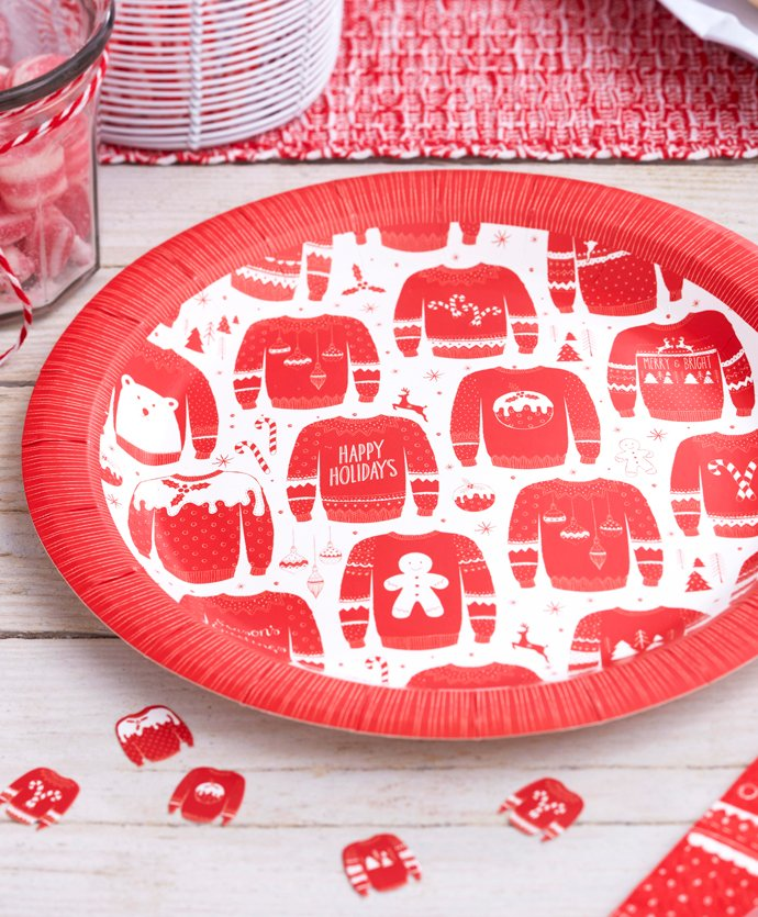 Christmas Jumper Day Party Plates