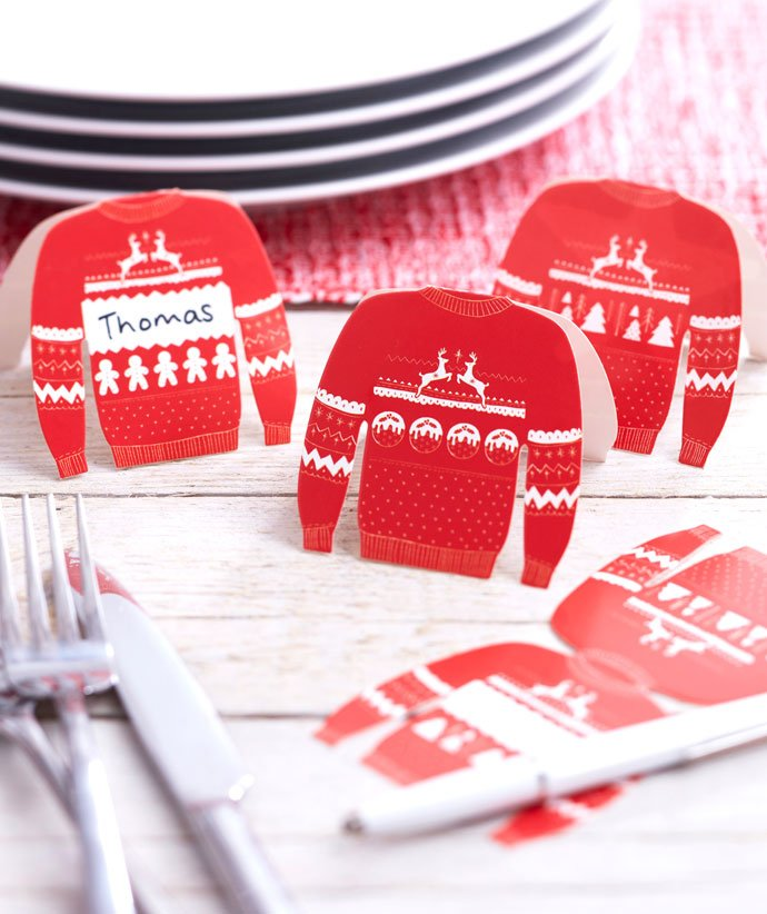 Christmas Jumper Placecards