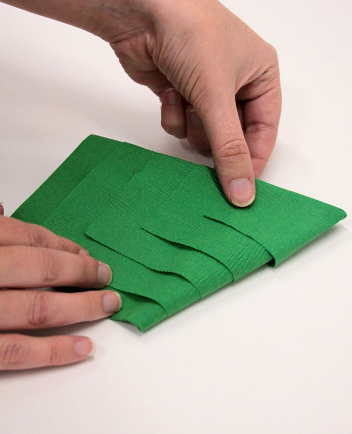 Christmas Tree Napkin Folding - Step 5 - REALLY EASY Christmas Tree Napkin Fold Party Delights Blog