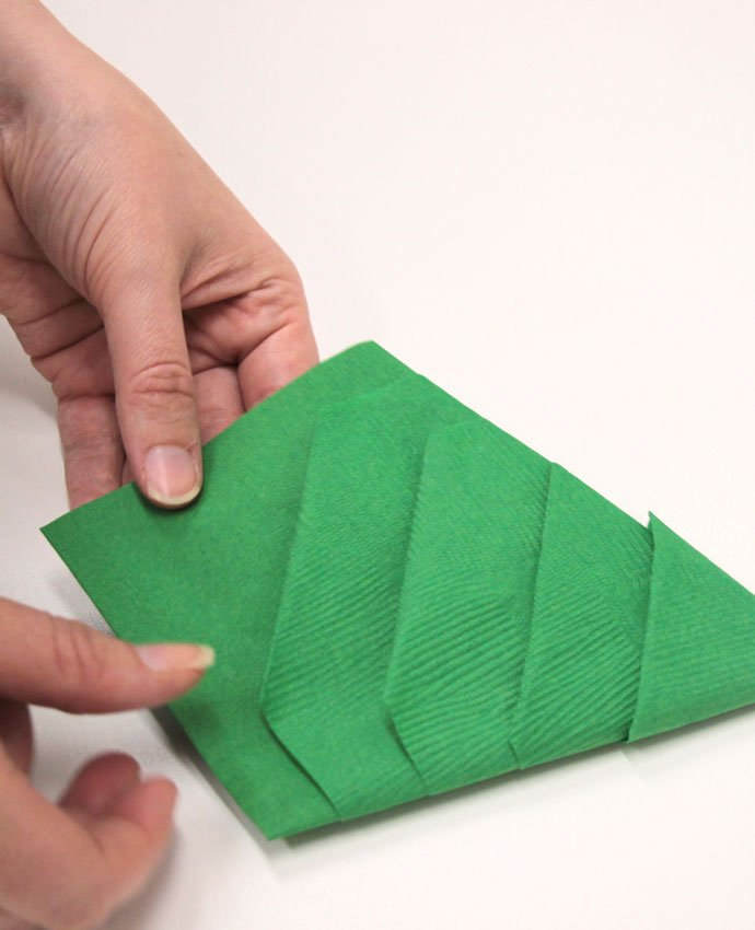 Christmas Tree Napkin Folding - Step 8
