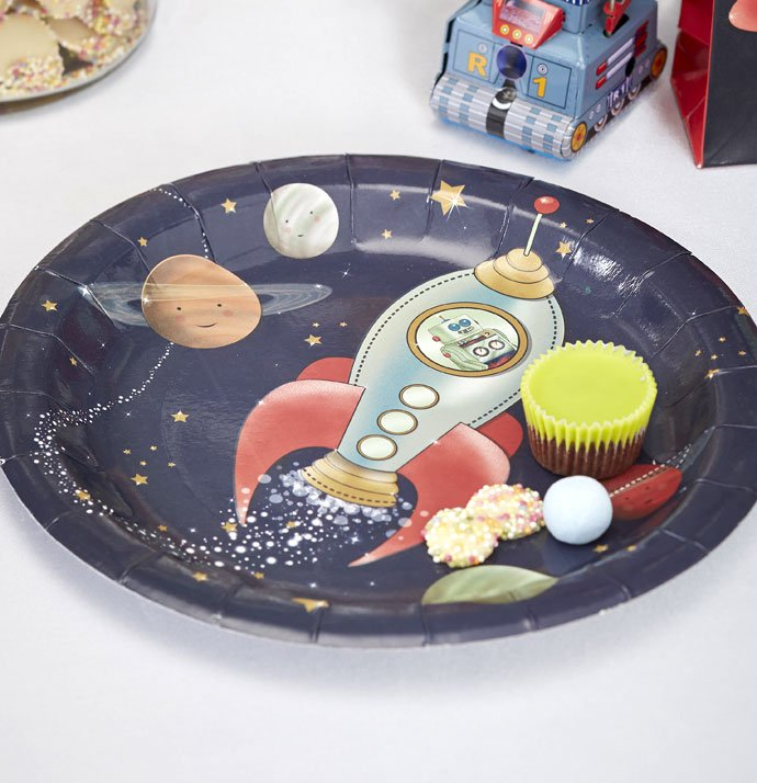 Outer Space Party Plates