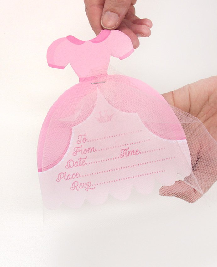 DIY Princess Party Invitations - Step 7
